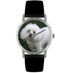 Whimsical Watches Kids R0130010 Classic Bichon Black Leather And Silvertone Photo Watch >>> Check out this great product.