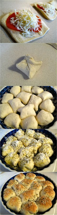 Pizza Rolls-This has been a family favorite for a long time. Never thought to ba… Pizza Rolls-This has been a. Think Food, I Love Food, Good Food, Yummy Food, Pizza Recipes, Appetizer Recipes, Snack Recipes, Cooking Recipes, Appetizers