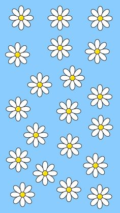 Image uploaded by ARTEMISCODE. Find images and videos about blue, aesthetic and flowers on We Heart It - the app to get lost in what you love. Daisy Wallpaper, Flower Phone Wallpaper, Cute Patterns Wallpaper, Iphone Background Wallpaper, Butterfly Wallpaper, Retro Wallpaper, Aesthetic Iphone Wallpaper, Aesthetic Wallpapers, Wallpaper Tumblrs