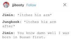 jimin was born in busan first