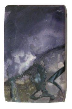 RARE Utah Tiffany Stone 23x35mm Rectangular Designer Pendant