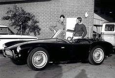 1964 Caroll Shelby & Steve McQueen & New Shelby Cobra - Photo Poster