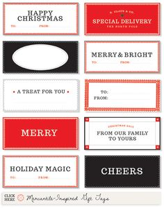 Free Holiday Printables Roundup for 2012 | Creature Comforts