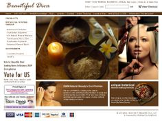 Beautiful Diva cosmetics product website.