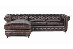 ???  One Kings Lane - Furniture for All - Finn Leather Sectional