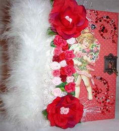 $40.00 Valentine/Love premade Scrapbook Album Envelope