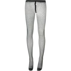 Comme Des Garçons fish net tights ($101) ❤ liked on Polyvore featuring intimates, hosiery, tights, pants, socks, leggings, black, net stockings, net tights and fish net stockings