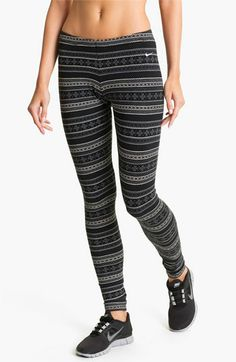 Nike 'Squad' Fair Isle Leggings available at #Nordstrom- Just bought yesterday! Fun Fun!