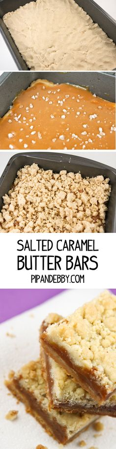 Salted Caramel Butter Bars - these are TO DIE FOR.