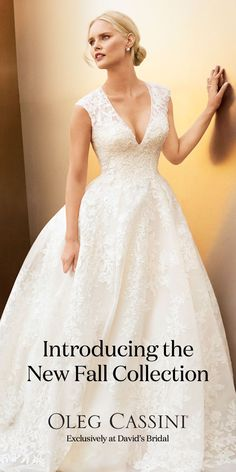 Brand new Oleg Cassini designer wedding dresses have arrived at David's Bridal. Come find the one for you!