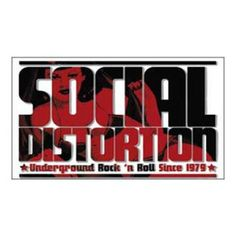 Social Distortion Logo Magnet - Rock out with this Social Distortion Logo Magnet! This product is a magnet with Social Distortion Underground Rock 'n Roll Since 1979 Logo.