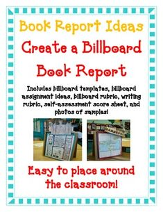 Billboard book reportthe goal for this billboard book for Creative ways to make a book for a project