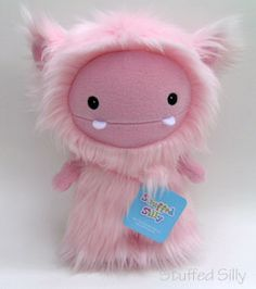 cute pink frost monster plush