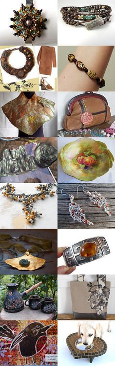 Earth Tones Treasures by Elsie's Creative Designs by Lisa Cook on Etsy--Pinned+with+TreasuryPin.com