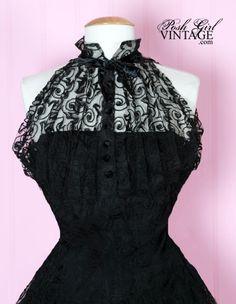 1950's Designer Black Formal Evening Dress 1950's vintage Evening ...