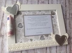 Hochzeit - Geldgeschenk im Bilderrahmen von ~purFürstlich~ auf DaWanda.com