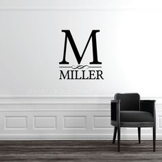 Personalized Custom Last Name Wall Decal  by StarstruckIndustries