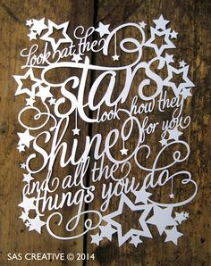 SVG 'Look at the stars look how they shine for you' by SASCreative