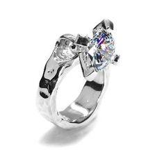 e.m. silver ring cubic zirconia 0001- R006 e.m. #em #ring #silver #cubiczirconia