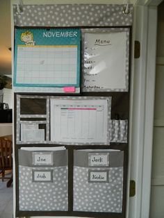Home Command Center Wall Organizer | Achieving Creative Order: A Moveable Command Center--From Thirty-One