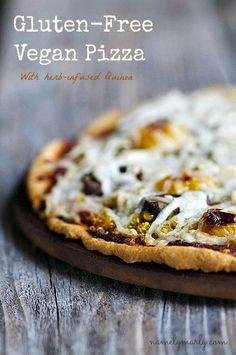 Gluten free vegan pizza