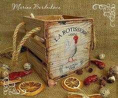 "Купить Короб ""La Rotisserie"" - коричневый, короб для хранения, короб для кухни, короб, кухня"