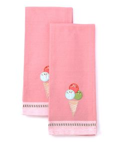 Take a look at this Ice Cream Cone Dish Towel - Set of Two by Design Imports on #zulily today!