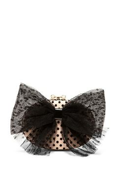 RED Valentino Mesh Bow Applique Clutch by Non Specific on @HauteLook