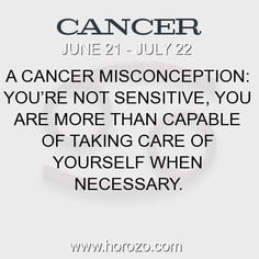 Fact about Cancer: A Cancer misconception: You're not sensitive, you are... #cancer, #cancerfact, #zodiac. More info here: https://www.horozo.com/blog/a-cancer-misconception-youre-not-sensitive-you-are/ Astrology dating site: https://www.horozo.com