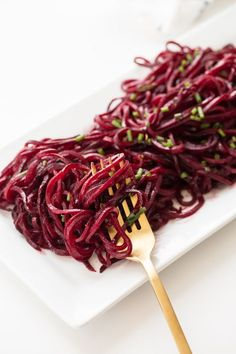 For the longest time, I really only ate beet noodles with goat cheese and toasted nuts. I just didn't know what else I could do with them. Since they're messy, they can get ugly pretty …