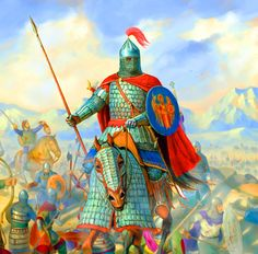 Byzantine heavy cataphract Medieval Knight, Medieval Armor, Military Art, Military History, Character Portraits, Character Art, Byzantine Army, Celtic Warriors, Knight Art