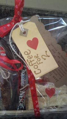 Coffee parcel for 2 with 4 shortbread,  crunchies and rusks... perfect for Valentine's Day