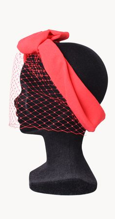Alquiler Turbante rojo de crepe de seda | Cris Camón | 24FAB | 2282