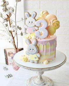 Baby Birthday Cakes, Cupcake Birthday Cake, Birthday Cakes For Women, Birthday Cookies, Buttercream Cake, Fondant Cakes, Cute Cakes, Pretty Cakes, Dream Cake