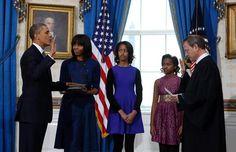 The Second Inauguration of our President. President Barack Obama with the First Lady Michelle Obama and daughters Malia & Sasha Obama. Malia Obama, Barack Obama, Barak And Michelle Obama, First Ladies, Finance, Malia And Sasha, Michelle Obama Fashion, Obama And Biden, Joe Biden