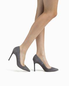 fc5a598ed04f Bess Suede Heels Grey Pumps