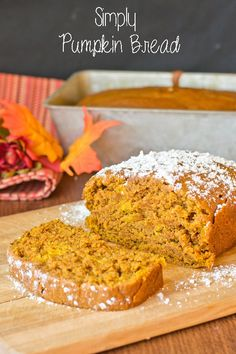 Simply Pumpkin Bread on MyRecipeMagic.com. Hands down the best pumpkin bread out there. This quick bread is full of simple pumpkin flavor.Add chocolate chips or nuts if you'd like! Makes two loaves!