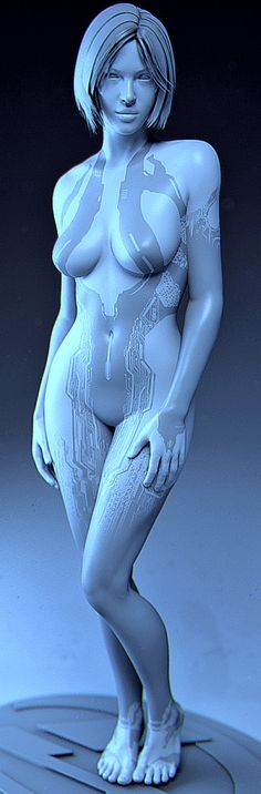 Cortana - Halo 4 - Model 8b by ~solarnova1101 on deviantART