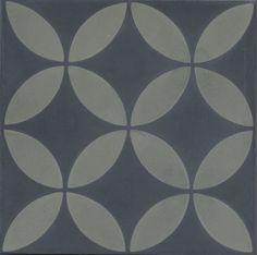 portugese-tegels -> VN Circle Of Life Gris Negra - Designtegels