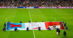 Event at Camp Nou in support of freedom of expression