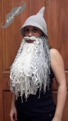Wizard or Viking Beard Hat by HolyNoggins on Etsy, $75.00