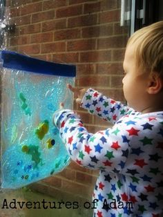Fish Tank Sensory Bag - Day 11 Toddler Play Challenge - Adventures Of Adam