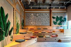 Office Tour: Kolektif House Coworking & Vodafone Offices – Istanbul - + W o r k P l a c e . Cool Office Space, Office Space Design, Workplace Design, Office Interior Design, Office Interiors, Healthcare Design, Modern Interior, Tiered Seating, Innovative Office