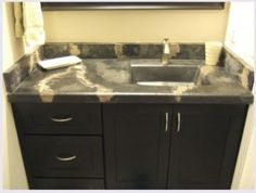 b12b799dab3f learn to diy concrete counters and sinks Дизайн Ванны, Раковины, Стена  Плитка, Главная