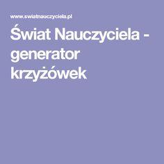 Świat Nauczyciela - generator krzyżówek