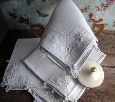 Set of  4 French Country  All Linen Napkins by GentlemanlyPursuits, $45.00