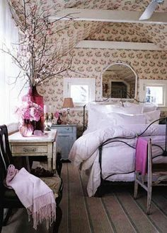 Shabby country cottage.... use pops of color to liven it up and a funky end result is yours!