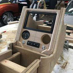 and this is what has fabbed up for a Cutlass. Remember to tag or for future… Automotive Upholstery, Car Upholstery, Custom Car Interior, Truck Interior, Car Interior Design, Custom Car Audio, Custom Cars, Custom Center Console, T3 Doka