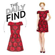"""The Daily Find: Alice + Olivia Puffed Dress"" by polyvore-editorial on Polyvore"