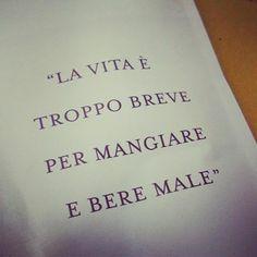 Foto: E non serve aggiungere altro #foodlover #aforismi #momentidaricordare #eataly #Genova